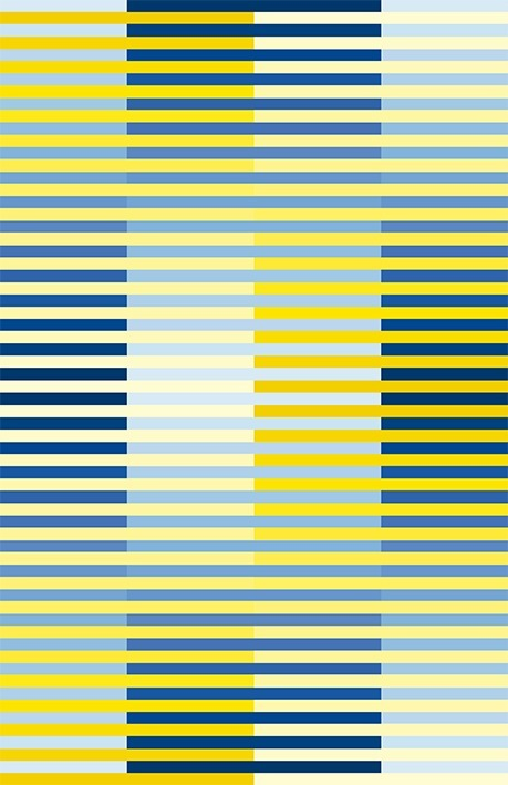 D130 Horizontal-vertical yellow-blue