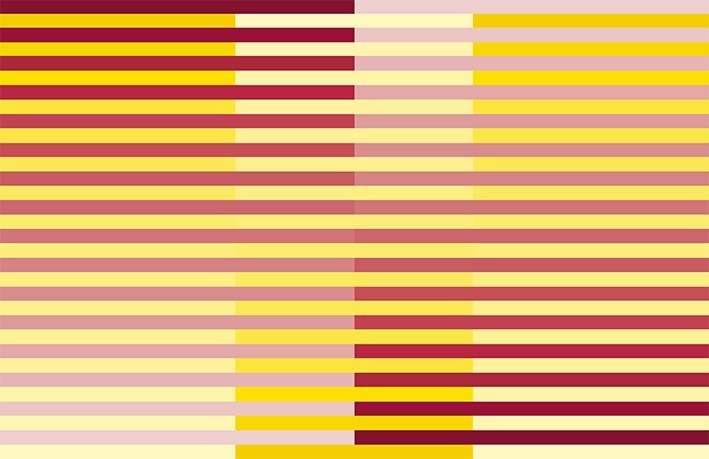 D134 Horizontal-vertical yellow-red