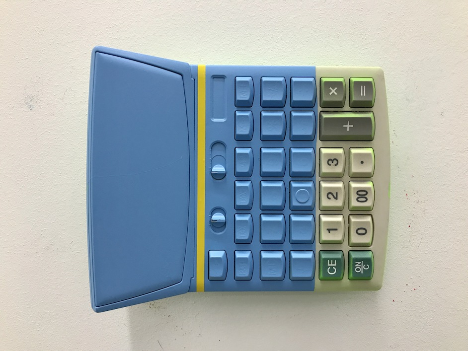 Yellow, Blue, Red and Green on Calculator