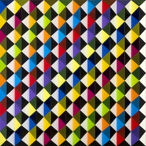 V76 - colorful, achromatic, light yellow, diagonal